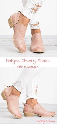 $32.29 USD Sale!SHOP NOWWomen Pu Boots Casual Daily Chunky Heel Shoes
