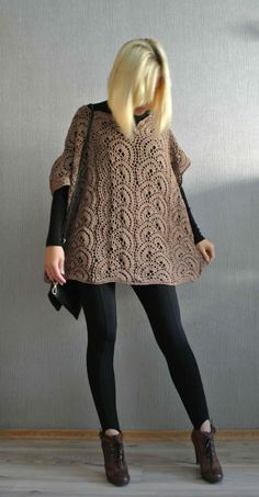 Tutoría poncho en ganchillo   -   Crochet Poncho Tutorial by Beautiful Crochet Stuff