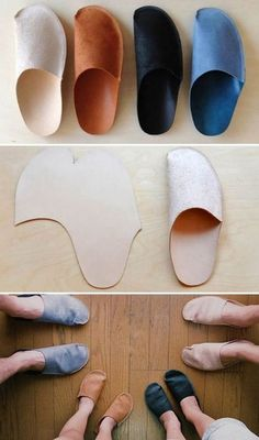 Ridiculously Cool DIY Crafts for Men Awesome Crafts for Men and Manly DIY Project Ideas Guys Love Fun Gifts Manly Decor Games and Gear Tutorials for Creative Projects to Make This WeekendSimple DIY Homemade Slippers for Homediyjoy Diy Projects For Men, Diy For Men, Diy Gifts For Men, Homemade Gifts For Men, Homemade Shoes, Simple Projects, Sewing Hacks, Sewing Crafts, Sewing Projects
