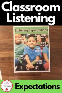 Start back to school by teaching your kindergarten and first grade students the listening expectations of the classroom. Includes resources to teach your students how to be good listeners at school. Tie in with your PBIS school wide rules and enhance your classroom management. #classroommanagement #kindergarten #firstgrade Calm Classroom, Classroom Behavior, Classroom Rules, Classroom Environment, Behavior Management, Classroom Management, First Day Of School, Back To School, Pbis School