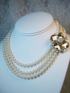 June Too Necklace  Available at Uptown Bridal  www.uptownbrides.com
