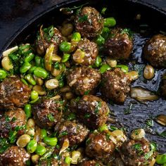 Beef meatballs with broad beans & lemon