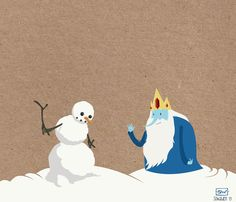 Just a sad Ice King being all sad Marcy and Gunter