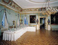 The Large Blue Reception Room, Peterhof Palace.