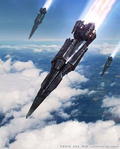 02_xcom_concept_art_del_rio_pod01.jpg 1,453×1,800 pixels  Nice. Like destroyers attacking a ground target in squadron strength...