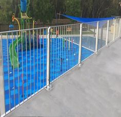 Lockergroup new product range Monowills Link AS5100 Balustrade Barrier used at the Lake Talbot Waterpark NSW. Meets Australian standards for Loading to C1 Crowd Surge and NCC - Anti climb & edge protection #lockergroup #AS5100 #Balustrade #modularpanels New Product, Lockers, Crowd, Range, Link, Cookers, Locker, Closet, Cabinets