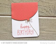 Handmade card from Kimberly Crawford featuring the Dots & Stripes Sorbet Paper Pack.