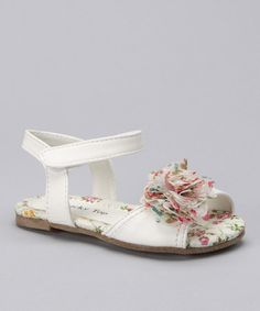 Take a look at this White Flower Sandal by Lucky Top on #zulily today!