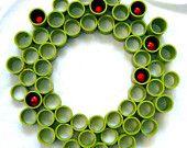 "Custom PVC Wreath, Large (20 - 24""), Multi Diameter, Choice of Colors/Finishes. $75.00, via Etsy."
