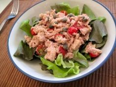 12. Tuna Salad with Hummus and Honey Mustard, over Lettuce  Ingredients:  1 can of tuna (120)  1/4 cup of hummus (100)  honey mustard (10)  chopped celery (0)  lettuce (0)     Nutrition:  230 calories, 30g protein