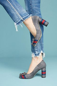 Lenora Betta Striped Heels