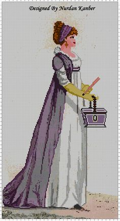 """A Regency Woman in Purple"" designed by Nurdan Kanber"