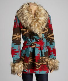 Look what I found on #zulily! Blue & Red Plains Coat by Tasha Polizzi #zulilyfinds