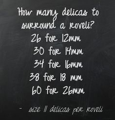 (http://pinstamatic.com) - to start a roveli bezel with size 11 delicas, use these numbers of beads.