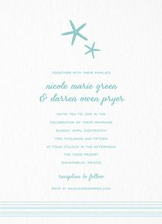 Tides Invitation card by Hello!Lucky on Postable.com