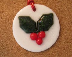 Fused Glass Snowflake Ornament Christmas by GlassMystique on Etsy