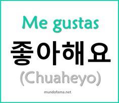 """I like you"" in Spanish & Korean"