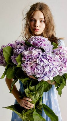 Hydrangea Gift For Any Occasion 2015 Holding Flowers, Love Flowers, My Flower, Flower Power, Beautiful Flowers, Bouquets, Hortensia Hydrangea, Pot Plante, Floral Fashion