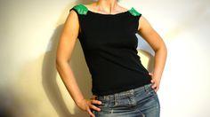 DIY refashion shirt Como customizar una camiseta con encaje