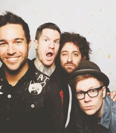 Fall Out Boy! This shall never cease to be my favorite picture ever because their faces aw aw aw
