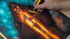 """Drawing Process Grim Reaper """"Memento Mori"""""""