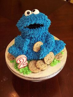 Cookie Monster Cakes: