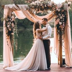 Loving this romantic draped flower arch. Which could also double as a cute photo area �� . . . .  #fallforabelle #bride #engaged #engagementring #bachlorette  #wedding #southernbride #southernbelle #bridalshower #shesaidyes #southerngirl #weddinginspiration #wifetobe #bridesmaids #charlotteweddings #bridesmaids  #isaidyes #tipoftheday http://gelinshop.com/ipost/1515549012579901570/?code=BUIT8wWhOCC