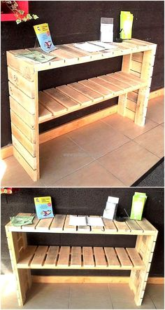 Create Simple Pallet Wood Projects To Enhance Your Home's Interior Decor Wooden Pallet Crafts, Diy Pallet Projects, Wooden Pallets, Diy Craft Projects, Wood Projects, Pallet Crates, Pallet Shelves, Pallet Furniture, Cool Furniture