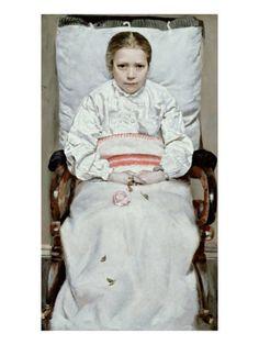 Syk pike, Christian Krogh, 1880-81