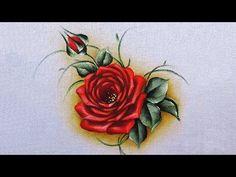 Como pintar rosa vermelha - YouTube