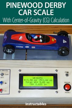 willemvl created this device to calculate the center-of-gravity (CG) as well as weight a pinewood derby car. #Instructabless #technology #electronics #arduino #scale Useful Arduino Projects, Pinewood Derby Cars, Scouts Of America, Scale, Technology, Electronics, Metal, Vintage, Tecnologia