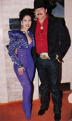"""With Oscar Flores (the man who dubbed her  """"Queen of Tejano"""") 1995 Tejano Music Awards."""
