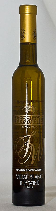 Wine Wednesday!  This week's choice is made by Lee Anne, our Assistant Store Manager:  Ferrante's Vidal Blanc Ice Wine.  This wine is made from select grapes frozen on the vine.  Aromas and flavors of honey, melon, and brown sugar.  Finished at 20% residual sugar.
