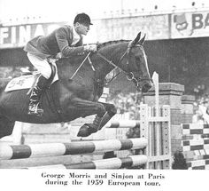 1959 Sinjon & George Morris. George Morris is the be all to end all, of equestrian sports.