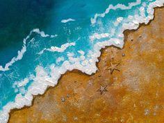 #lovesummerart wave on beach painting  acrylic easy beginner art lesson