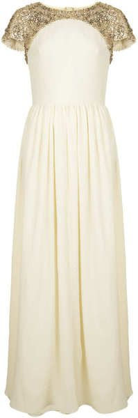 Topshop Limited Edition Embellished Maxi Dress - Lyst