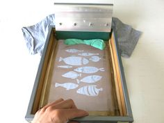 Free friday - screen printing at home tutorial   Kim Welling
