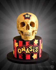 Gold Skull Cake