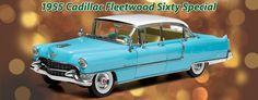 1955 Cadillac Fleetwood Sixty Special - blue fairfieldcollectibles.com