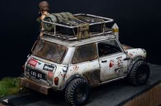 Scale model diorama with car and figure. Titled: Overwatcher by Ki-Yeol Yoon. 1:24 scale. Pinned by #relicmodels