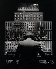 Tom Palmer - My original synth system - Polymoog, Minimoog, Moog 55, Sequential Circuits sequencer, Korg Expander Module.