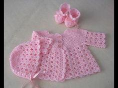 Crochet Baby Cardigan Free Pattern, Crochet Baby Jacket, Crochet Baby Sweaters, Crochet Baby Bonnet, Baby Sweater Patterns, Baby Girl Sweaters, Crochet Baby Clothes, Newborn Crochet, Baby Knitting