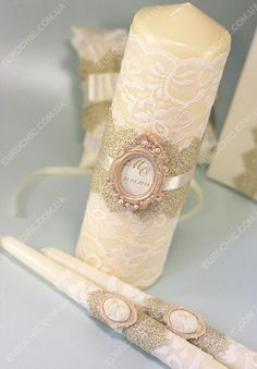 Wedding Candle How To – Wedding Candles Ideas Wedding Unity Candles, Pillar Candles, Floating Candle Centerpieces, Baptism Candle, Wedding Glasses, Beautiful Candles, Christmas Candles, Candle Set, Wedding Gifts