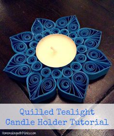 quilled tealight holder tutorial - in rosso adatto per Natale