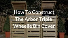 A short video on how to put together one of our Arbor Triple Wheelie Bin Storage units. The bin store comes flat packed with all fixtures + fittings and can . Triple Wheelie Bin Storage, Triple Bin Store, Garbage Can, Storage Bins, Door Design, Home Projects, Construction, Youtube, House