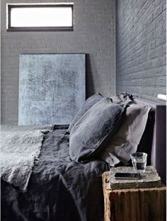 Discover manly interior designs with the top 80 best bachelor pad men's bedroom ideas. Explore cool masculine spaces fit for any royal king to sleep. Home Bedroom, Bedroom Decor, Bedroom Ideas, Gray Bedroom, Master Bedroom, Charcoal Bedroom, Grey Room, Design Bedroom, Master Suite