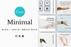 CANVA Minimal Social Media Pack by Graphica Studio on @creativemarket