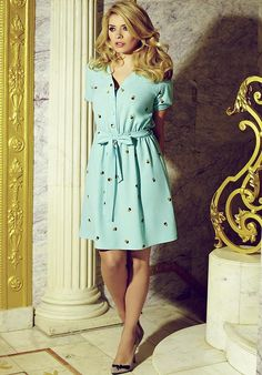 Holly Willoughby in peppermint green