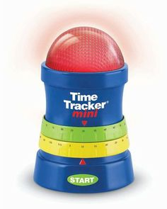 """Use this timer to track how much chore time or play time kids have left. It gives a """"soft"""" warning before the alarm so little ones can prepare to wrap things up! Click above to buy one."""