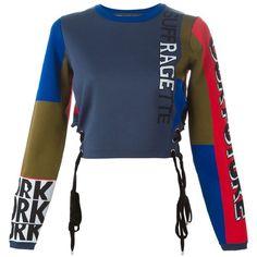 Marc By Marc Jacobs Tie Detail Sweatshirt ($708) ❤ liked on Polyvore featuring tops, hoodies, sweatshirts, multicolour, marc by marc jacobs, marc by marc jacobs top, sweatshirts hoodies, sweat shirts and colorful sweatshirts